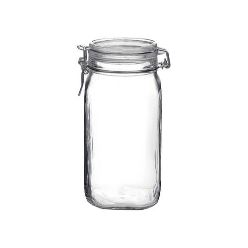 JAR STORAGE GLASS 1.5L W/CLIP FIDO BORMIOLI