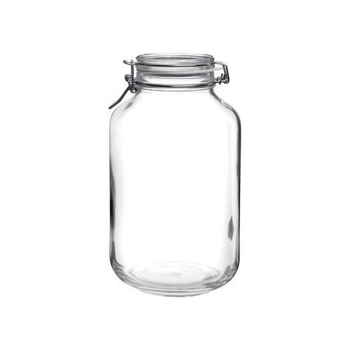 JAR STORAGE GLASS 4L W/CLIP FIDO BORMIOLI