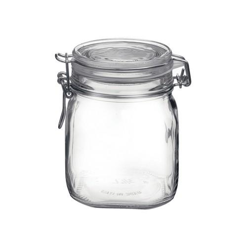 JAR STORAGE GLASS 750ML W/CLIP FIDO BORMIOLI