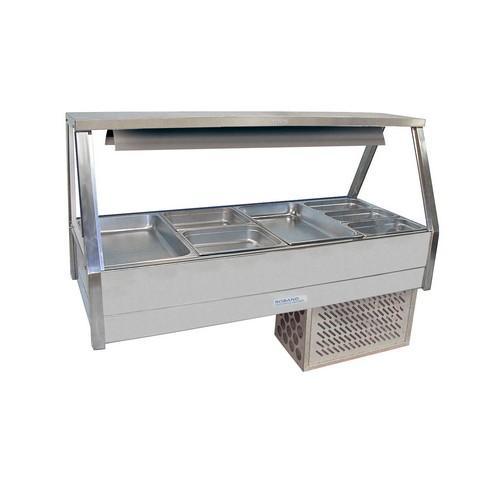 COLD FOOD DISPLAY BAR STRAIGHT GLASS 2X4 PAN R/D ROBAND