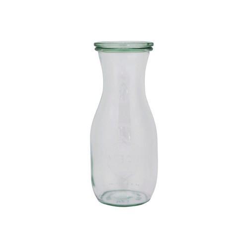 JAR / BOTTLE GLASS W/LID 530ML 60X184MM WECK