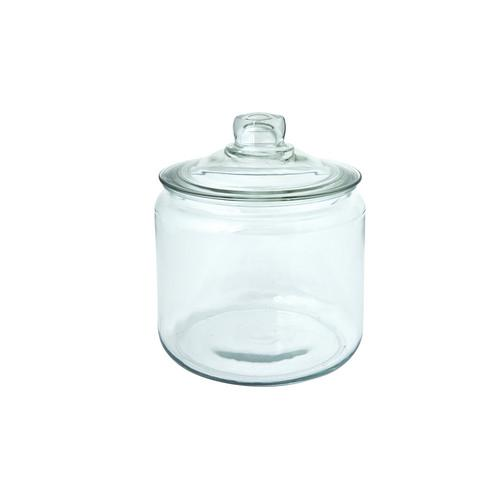 JAR STORAGE GLASS W/LID 2.8L HERITAGE ANCHOR