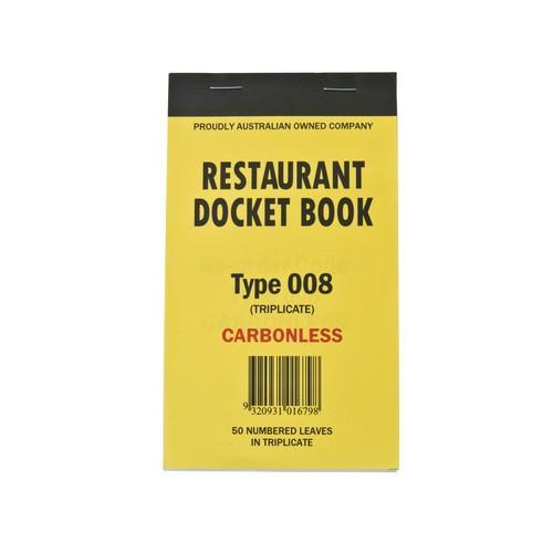DOCKET BOOK RESTAURANT MED 3P CARBONLESS 50X3
