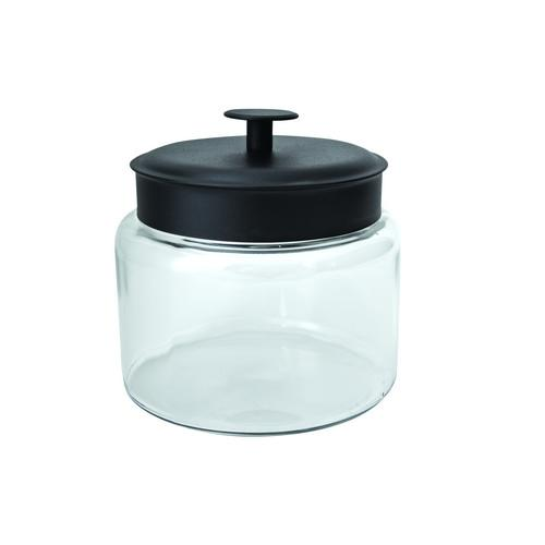 JAR STORAGE GLASS 1.9L BLACK LID MONTANA ANCHOR