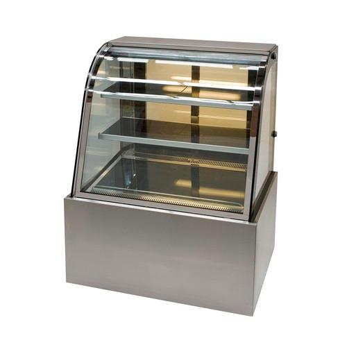 HOT FOOD DISPLAY SHOWCASE CURVED GLASS 900MM ANVIL AIRE