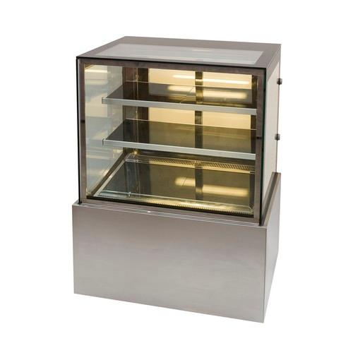 HOT FOOD DISPLAY SHOWCASE SQUARE GLASS 900MM ANVIL AIRE