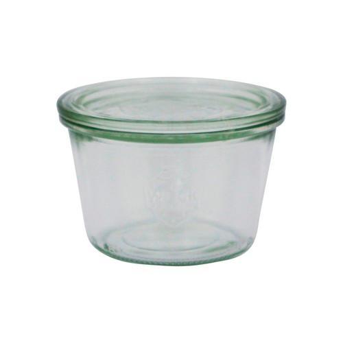 JAR GLASS W/LID 370ML 100X69MM WECK