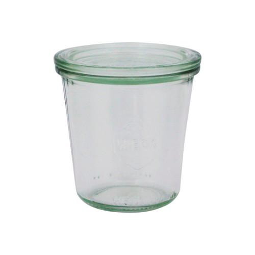 JAR GLASS W/LID 290ML 80X87MM WECK