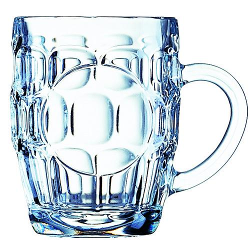 BEER MUG GLASS 570ML PINT CERTIFIED & NUCLEATED BRITANNIA ARCOROC