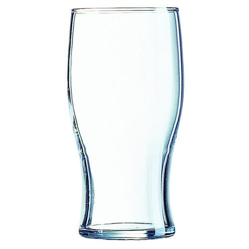 BEER GLASS 570ML PINT CERTIFIED TEMPERED & NUCLEATED TULIP ARCOROC