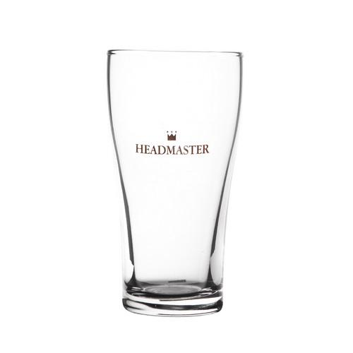BEER GLASS 285ML CERTIFIED CONICAL HEADMASTER CROWN