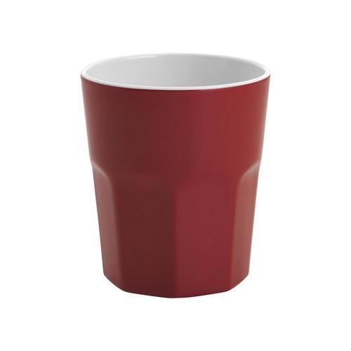 TUMBLER 410ML RED/WHITE MELAMINE GELATO JAB