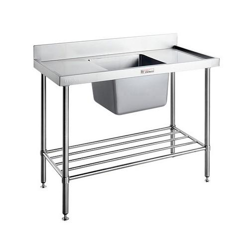 SINK BENCH S/S RIGHT SIDE 1800X600X900MM SIMPLY STAINLESS