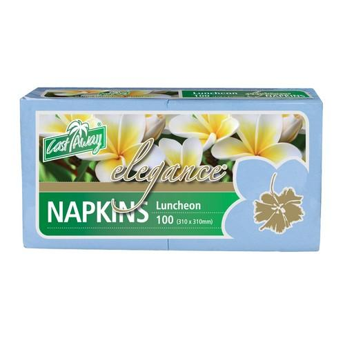 NAPKIN LUNCHEON ELEGANCE LIGHT BLUE (PK100) SPECIAL