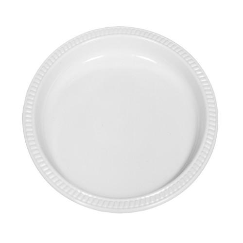 PLATE ROUND PLASTIC WHITE 260MM (PK25)