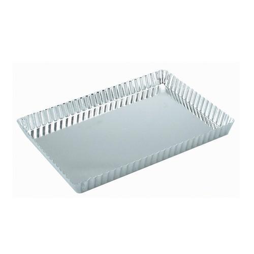 QUICHE PAN TIN RECT FLUTED 360X130X20MM LOOSE BASE