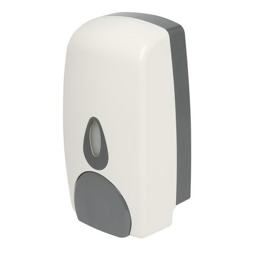 DISPENSER SOAP 1L REFILLABLE WHITE PLASTIC EDCO