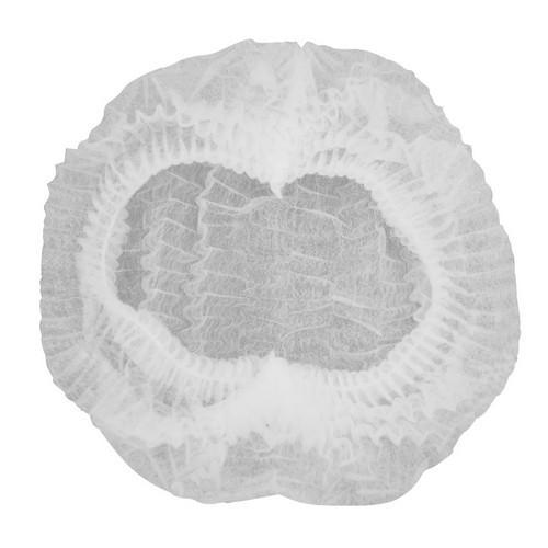 CAP BOUFFANT NON WOVEN DISPOSABLE WHITE CASTAWAY (PK100)