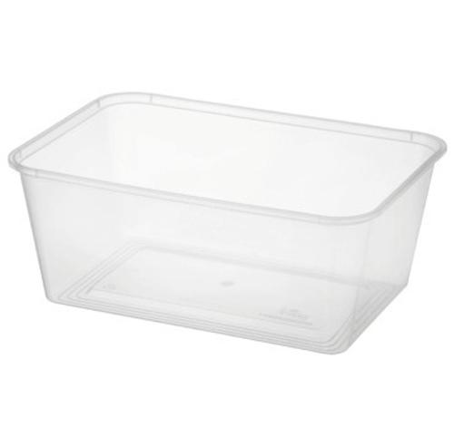 CONTAINER RECT PLASTIC TAKEAWAY 1000ML (PK50)