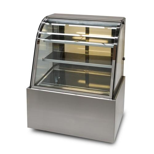 COLD FOOD DISPLAY SHOWCASE CURVED GLASS 900MM ANVIL AIRE