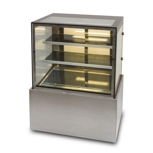COLD FOOD DISPLAY SHOWCASE SQUARE GLASS 900MM ANVIL AIRE