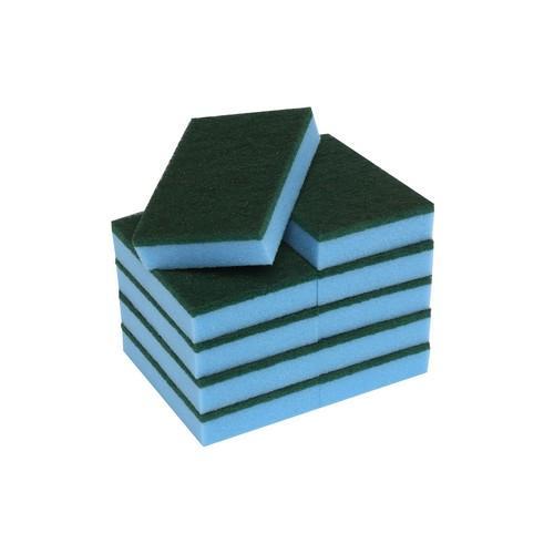 SPONGE / SCOURER H/D BLUE 150X100MM EDCO (PK10)