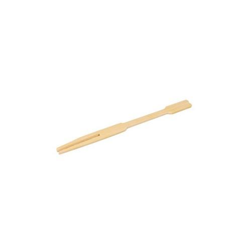 COCKTAIL FORK MINI BAMBOO NATURAL 90MM (PK100)