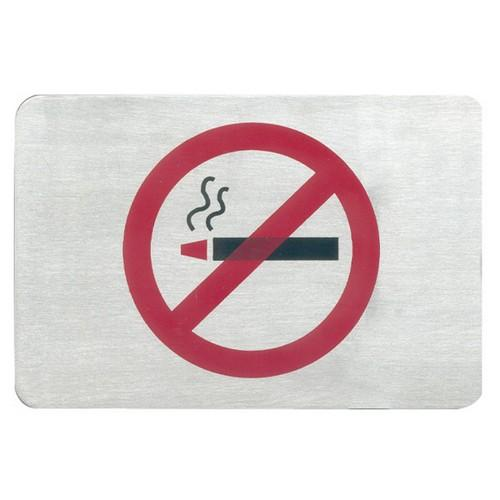 SIGN - NO SMOKING SYMBOL S/S 120X80MM