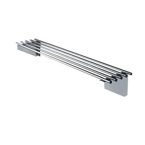 SHELF WALL S/S PIPE 1200X300MM SIMPLY STAINLESS