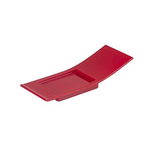 JAPANESE SPOON PLASTIC RED 100X35MM (PK100)