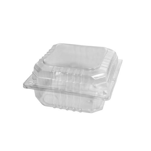 BURGER PACK PLASTIC CLEAR HINGED LARGE 115X115X65MM (CT1000)