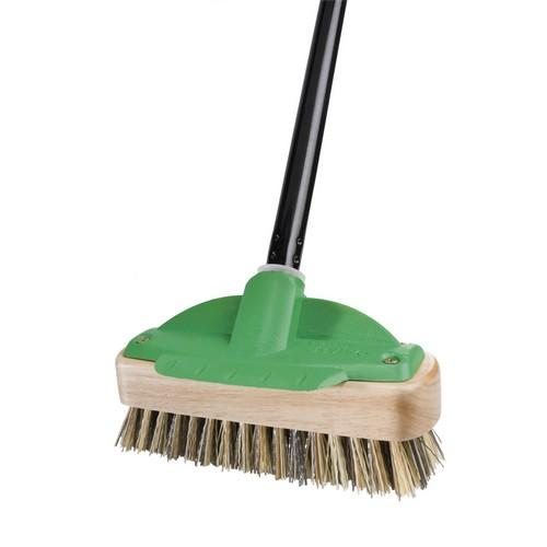 BRUSH DECK SCRUB 200MM W/HANDLE WOOD OATES