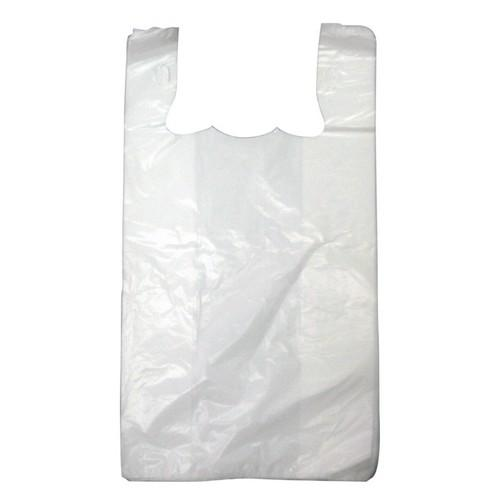 SINGLET BAG PLASTIC WHITE MEDIUM 500X250X140MM (CT3000)