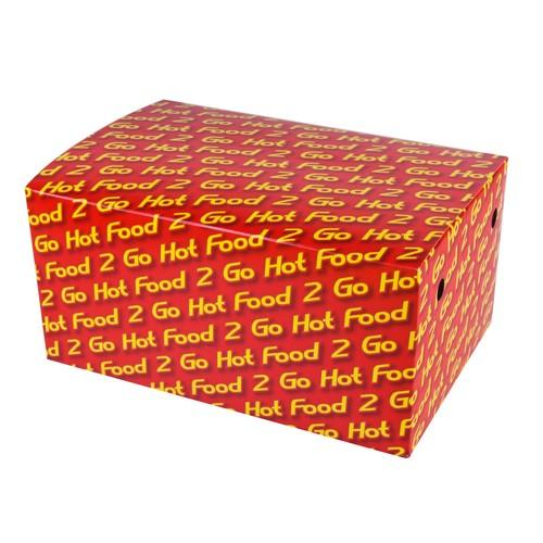SNACK BOX BOARD FAMILY HOT FOOD 2 GO 210X140X102MM (CT200)