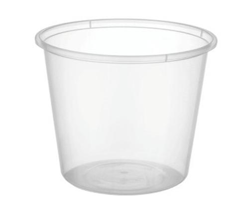 CONTAINER ROUND PLASTIC TAKEAWAY 650ML (PK50)