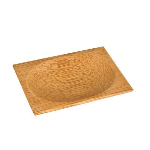 BOARD MINI RECT BAMBOO OVAL INDENT 80X60MM (PK12)