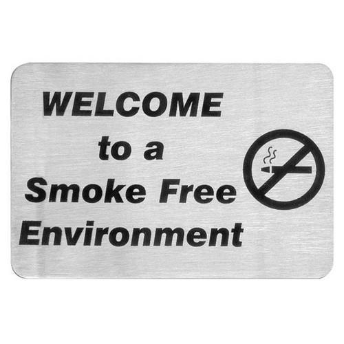 SIGN - SMOKE FREE ENVIRO S/S 120X80MM