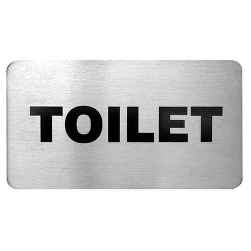 SIGN - TOILET S/S 110X60MM