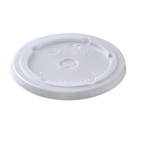 LID PLASTIC FLAT SLOTTED FOR PAPER CUP 800ML (CT1000)