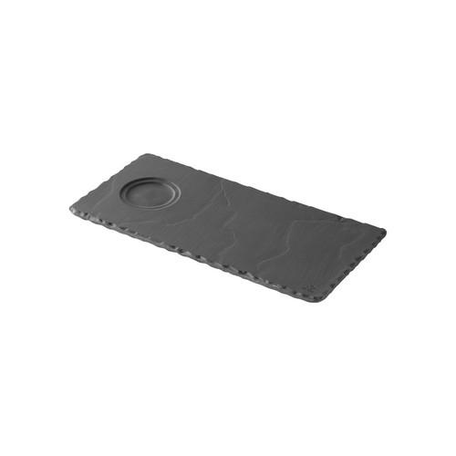 TRAY RECT W/WELL 250X120MM  BASALT REVOL