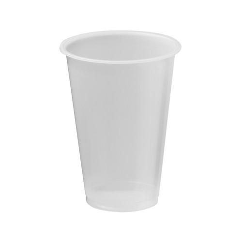 CUP PLASTIC NATURAL 340ML CERTIFIED (PK50)