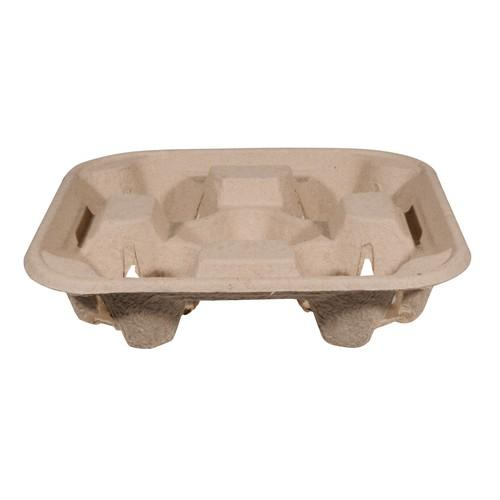 CARRY TRAY 4 CUP ENVIROBOARD NATURAL (CT100)