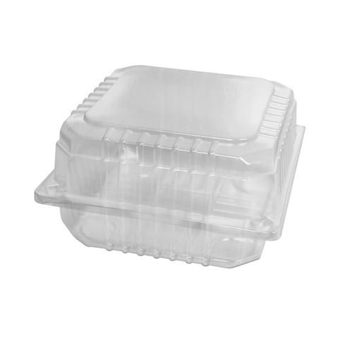 BURGER PACK PLASTIC CLEAR HINGED JUMBO 130X140X70MM (CT400)