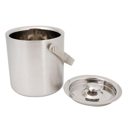 ICE BUCKET S/S INSULATED 1L W/LID