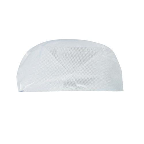 CHEF HAT NON WOVEN DISPOSABLE WHITE 80MM CASTAWAY (PK100)