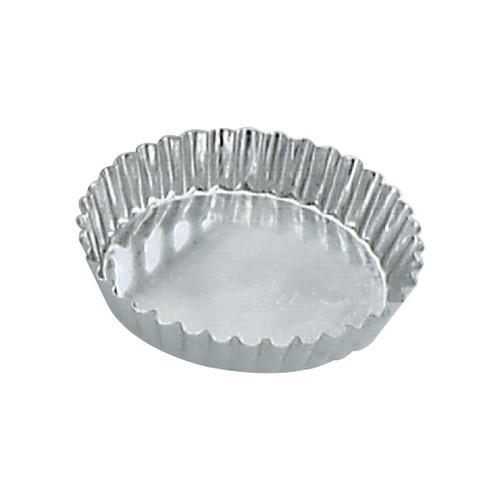 TART MOULD TIN FLUTED 95X18MM FIXED BASE GUERY