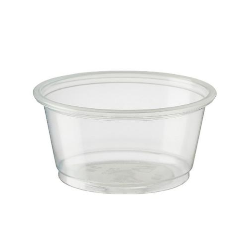 CONTAINER ROUND PLASTIC SAUCE / PORTION 59.2ML CASTAWAY (PK250)