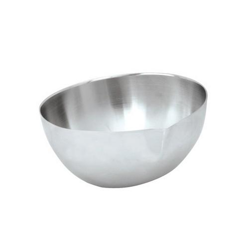 DISH CONDINMENT OVAL S/S 70X60X38MM W/SPOUT