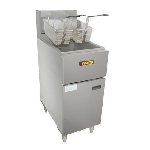FRYER SINGLE PAN 20L 2 BASKET 400MM GAS ANETS