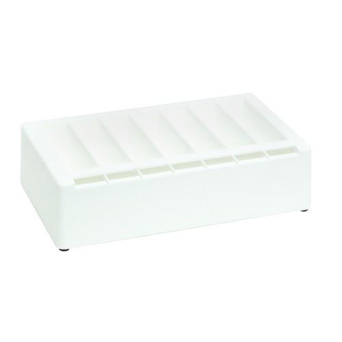 LABEL DISPENSER PLASTIC WHITE HOLDS UP TO 24MM SIZE